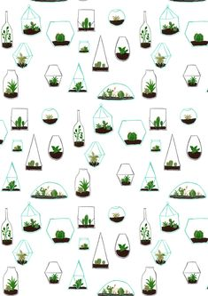 Simple terrarium pattern drawing proves you can make cute, illustrative patterns our of anything around you.
