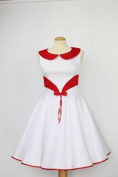 Brautkleid, Kleid,Abendkleid, weiß rot von charme-mode auf DaWanda.com