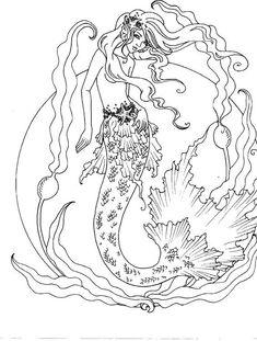 Realistic Mermaid Drawings