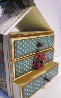 Scor-pal: Three Drawer Box by Gini Cagle