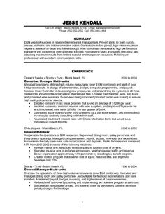 resume examples for management manager resume example free restaurant management resume