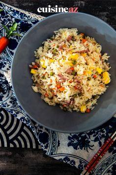 Le riz cantonais au Companion est une recette économique. #recette#cuisine#riz#rizcantonais #robot #robotculinaire #companion Fried Rice, Robot, Fries, Ethnic Recipes, Pork, Cooking Recipes, Snap Peas, Frozen Peas, Robots