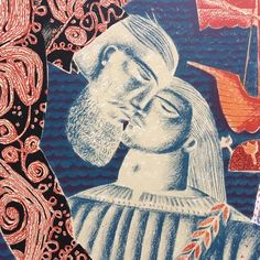'The Exchange' (detail) by Clive Hicks-Jenkins from his 'Sir Gawain & the Green Knight' series of prints and paintings