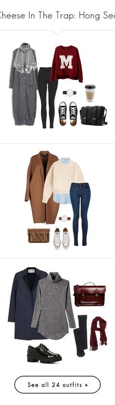 """Cheese In The Trap: Hong Seol"" by iamchante ❤ liked on Polyvore featuring school, drama, korean, cheeseinthetrap, Topshop, Converse, Daniel Wellington, OUTRAGE, Rochas and Acne Studios"