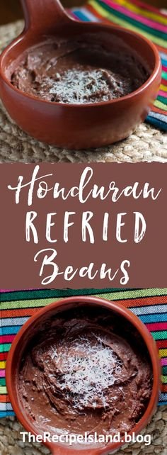 Learn how to make this classic Honduran Refried Beans (Frijoles Refritos) with an island twist on The Recipe Island! Side Dishes Easy, Tasty Dishes, Food Dishes, Honduran Recipes, Mexican Food Recipes, Spanish Recipes, Spanish Food, Olimpia Honduras, Honduras Food