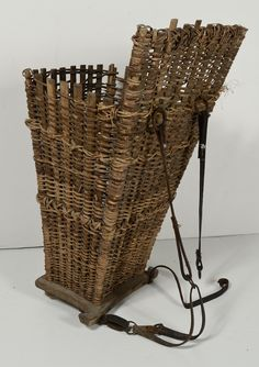 French Wicker Grape Harvest Hotte