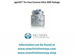 ageLOC® Tru Face Essence Ultra ADR Package  http://newchristinemoya.blogspot.com/2017/03/ageloc-tru-face-essence-ultra-adr.html  #Beauty #NuSkin #SkinCare www.newchristinemoya.pro  www.newchristinemoya.shop   Now you can change the way your skin ages and embrace the look of youth with ageLOC® Tru Face® Essence Ultra. Formulated with the power of Ethocyn®, Nu Skin's firming specialist now also employs revolutionary ageLOC science, targeting the sources of ageing that lead to the loss of…