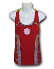 Iron Man Costume Tieback Women's Tank Top