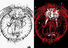 """The Cybeth"" (((rawr))) A  B  My Old 2013 #01  #gambar #draw #drawingfun #sketsa #scetch #ilustrasi #illustration #sabertooth #singa #lion #kucing #cat #darah #blood #splash #whitetiger #morkl"