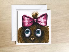 Cute owl birthday card, funny greeting card, pretty birthday card Funny Greetings, Funny Greeting Cards, Funny Birthday Cards, Cute Owl, White Envelopes, Ann, Illustrations, Creative, Illustration