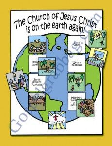 CHURCH: Primary CTR-A, Lesson 42, Primary 2 manual, The Church of Jesus Christ Is on the Earth, Primary Lesson Helps, family home evening, S...