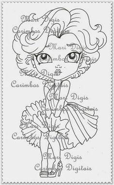 Mari Digis Store: A17-Divas do Cinema: Marilyn