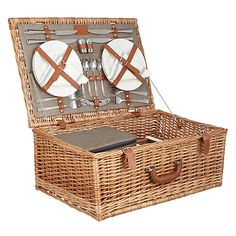 140bps Croft Collection Luxury Wicker Picnic Hamper Online at johnlewis.com