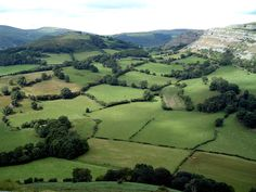View of countryside surrounding Llangollen from Dinas Bran - Denbighshire, Wales