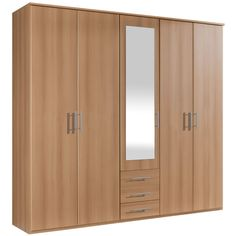 Billy 5 Door 3 Drawer Mirrored Wardrobe – Next Day Delivery Billy 5 Door 3 Drawer Mirrored Wardrobe from WorldStores: Everything For The Home Wooden Wardrobe, Mirrored Wardrobe, Bedroom Wardrobe, Bathroom Cupboards, Black Headboard, Diy Home Cleaning, Cupboard Storage, Kitchen Cabinet Design, Soft Furnishings
