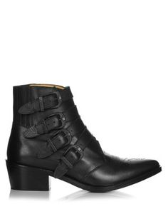 Buckle leather ankle boots | Toga | MATCHESFASHION.COM US