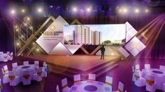 25 Creative and Beautiful Stage Design examples from around the world Bühnen Design, Booth Design, Interior Design, Stage Set Design, Church Stage Design, Salas Lounge, Concert Stage Design, Corporate Event Design, Outdoor Stage