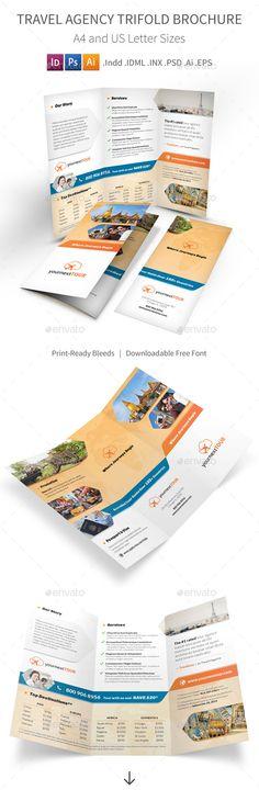 Travel Trifold Brochure Bundle Brochures, Travel brochure - vacation brochure template