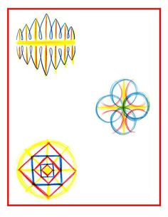 This drawing represents (or horizontal–vertical, left-right) symmetry, as does the form on the right. And the one on the bottom left is an example of free hand geometry. Grade 3, Second Grade, Waldorf Math, Form Drawing, Geometric Drawing, Little White, Ancient Civilizations, 5th Grades, Educational Activities