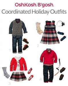 Coordinated Holiday Outfits for Kids from OshKosh B'gosh -- get them now for 50% off  {sponsored partnership}