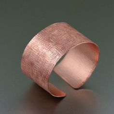 Best Wide Copper Linen Cuff Bracelet - Handmade Copper Jewelry - Copper Cuff  - 7th Wedding Anniversary Gift - Valentine's Day Gift by johnsbrana https://www.etsy.com/listing/220953437/wide-copper-linen-cuff-bracelet-handmade?ref=rss