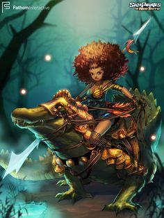 Councilor Caleypsu prepares for battle with the Witch Queen!   #Art #Illustration #FathomGames #SkyPirates #SkyPiratesOfNeoTerra #GameDevelopment #ArtCard #CamilladErrico #SocialGames