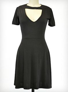 Sneak Preview Dress in Black | PLASTICLAND