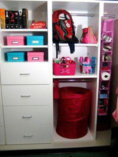 Organization Ideas For Dorm Closets