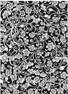 Welcome To Dover Publications Midnight Forest Bunny Rabbit Abstract Creative Haven Garden Coloring Book Heart