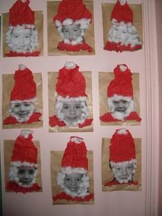 activite maternelle.:faire une carte de Noel