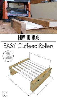 Woodworking Tools 471329917250210702 - How to How to make simple but efficient out feed rollers from very inexpensive materials which pair with many shop tools like a planer, miter saw, or table saw.