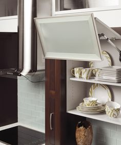 This concept could be used in a pantry space if coverage is necessary. @Plain & Fancy Custom Cabinetry