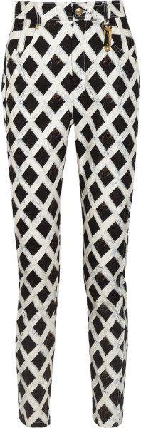 Giane Capato: Kenzo Printed Stretch Cottontwill Pants in Multicolor (multicolored) -