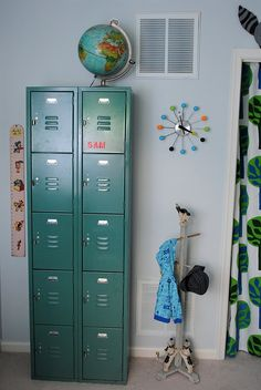 I've totally had my eye out for lockers...  They'd be so fun to paint in bright colors!
