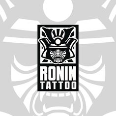Logo design I've created for 'Ronin Tattoo' . Do you want to give your business a new look? Write me a message to: wintrygrey@hotmail.com Ronin Tattoo, My Works, Logo Design, Messages, Writing, Photo And Video, Logos, Tattoos, Business