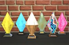 TS4 Stuff Pack Awards by wsimsInspired by the first 6 stuff packs for The Sims 4, I've created a set of adorable Plumbob lamps, each with a emotional aura boost relating to the pack. • Opulent...
