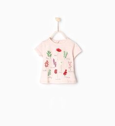 Image 1 of Botanical print T-shirt from Zara