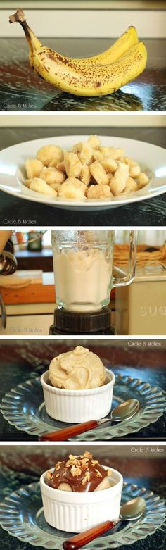 Helado sencillo de plátano / One-Ingredient Banana Ice Cream