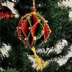 Harlequin Ball, Felt Christmas Tree Ornament..instructions for making!