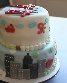 New York/SF cake