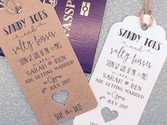 Save The Date For Wedding Abroad Invitation with Envelope Personalised RSVP