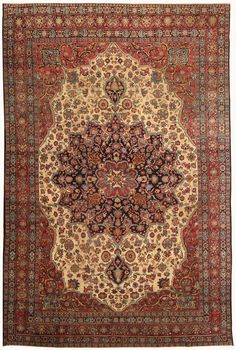 Antique Kerman Persian Rug 2.9×4.3 m. Main Image - By Nazmiyal