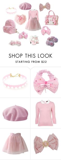 """Pink Princess ~ Hime Gyaru"" by sweetpasteldream ❤ liked on Polyvore featuring Betmar and Chicwish"
