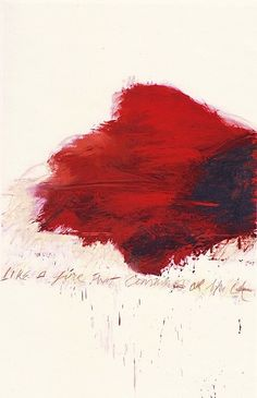 "Cy Twombly - The Fire that Consumes All before It, 1978. Oil, oil crayon and graphite on canvas. 300 x 192 cm (118.1"" x 75.6"")For more Fine Arts follow galerie mARTin."