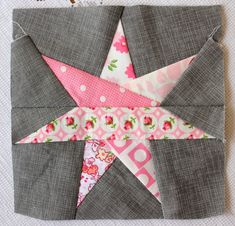 7 point star stitched by Randi at i have to say!