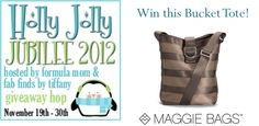 #Giveaway ends 11/30/12 - Win a #maggiebags bucket tote!  http://southerngirlramblings.com/holly-jolly-jubilee-giveaway-maggie-bags-bucket-tote/