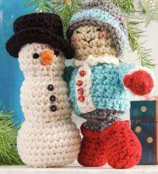 Amigurumi Snowman & Friend - free crochet pattern