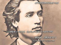 Imagini pentru despre eminescu Tyga, Photos, Statue, Movie Posters, Fictional Characters, Mai, Poet, Romania, Owls