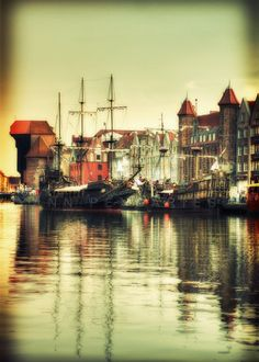 North Poland Baltic sea Port of Gdansk - Original Signed Numbered Fine Art Photography Print by Ocean Photography, Fine Art Photography, Landscape Photography, Architectural Photography, Beautiful Places, Beautiful Pictures, Baltic Cruise, Beach Wall Decor, Baltic Sea