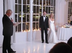 Great shot of Bride and Groom during Dad's speech at Studio 450 New York City